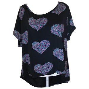 Torrid heart pattern casual short sleeve tee